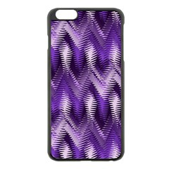Purple Wavy Apple Iphone 6 Plus/6s Plus Black Enamel Case by KirstenStar