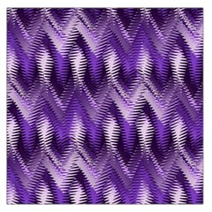 Purple Wavy Large Satin Scarf (square) by KirstenStar