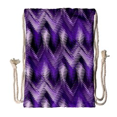Purple Wavy Drawstring Bag (large) by KirstenStar