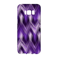 Purple Wavy Samsung Galaxy S8 Hardshell Case