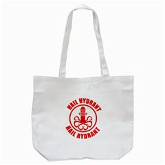 Hail Hydrant Tote Bag (white) by derpfudge