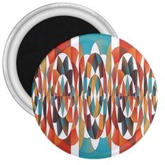 Colorful Geometric Abstract 3  Magnets by linceazul