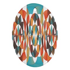 Colorful Geometric Abstract Ornament (oval) by linceazul