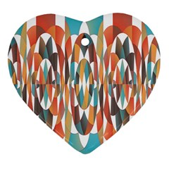 Colorful Geometric Abstract Ornament (heart) by linceazul