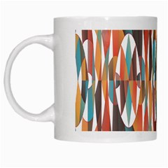 Colorful Geometric Abstract White Mugs by linceazul