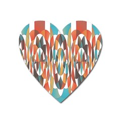 Colorful Geometric Abstract Heart Magnet by linceazul