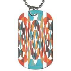 Colorful Geometric Abstract Dog Tag (two Sides) by linceazul
