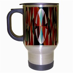 Colorful Geometric Abstract Travel Mug (silver Gray) by linceazul