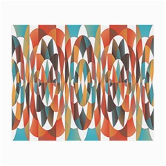 Colorful Geometric Abstract Small Glasses Cloth by linceazul