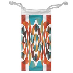 Colorful Geometric Abstract Jewelry Bag by linceazul