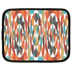 Colorful Geometric Abstract Netbook Case (large) by linceazul