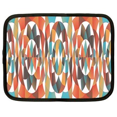 Colorful Geometric Abstract Netbook Case (xl)  by linceazul