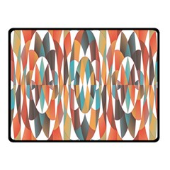 Colorful Geometric Abstract Fleece Blanket (small) by linceazul