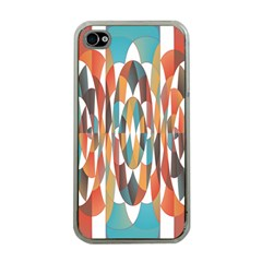 Colorful Geometric Abstract Apple Iphone 4 Case (clear) by linceazul