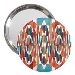 Colorful Geometric Abstract 3  Handbag Mirrors by linceazul