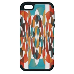 Colorful Geometric Abstract Apple Iphone 5 Hardshell Case (pc+silicone) by linceazul