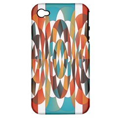 Colorful Geometric Abstract Apple Iphone 4/4s Hardshell Case (pc+silicone) by linceazul