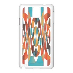 Colorful Geometric Abstract Samsung Galaxy Note 3 N9005 Case (white) by linceazul
