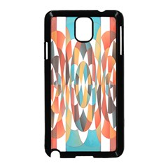 Colorful Geometric Abstract Samsung Galaxy Note 3 Neo Hardshell Case (black) by linceazul