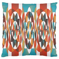 Colorful Geometric Abstract Large Flano Cushion Case (two Sides) by linceazul