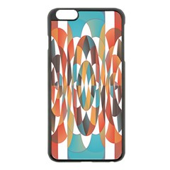 Colorful Geometric Abstract Apple Iphone 6 Plus/6s Plus Black Enamel Case by linceazul
