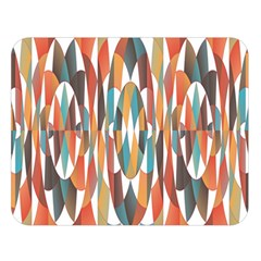 Colorful Geometric Abstract Double Sided Flano Blanket (large)  by linceazul