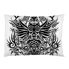 Tattoo Tribal Owl Pillow Case (two Sides)