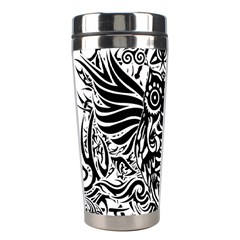 Tattoo Tribal Owl Stainless Steel Travel Tumblers by Valentinaart