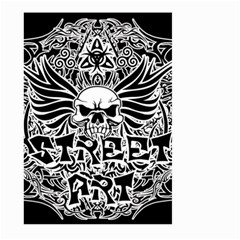 Tattoo Tribal Street Art Large Garden Flag (two Sides) by Valentinaart