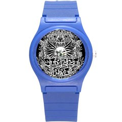 Tattoo Tribal Street Art Round Plastic Sport Watch (s)