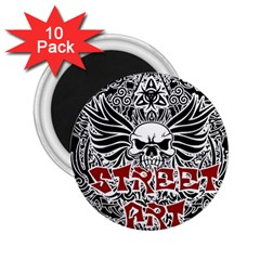 Tattoo Tribal Street Art 2 25  Magnets (10 Pack)  by Valentinaart