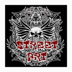 Tattoo Tribal Street Art Medium Glasses Cloth by Valentinaart