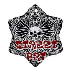 Tattoo Tribal Street Art Ornament (snowflake)