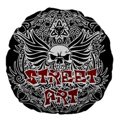 Tattoo Tribal Street Art Large 18  Premium Flano Round Cushions by Valentinaart