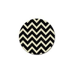 Chevron9 Black Marble & Beige Linen Golf Ball Marker by trendistuff