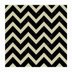 Chevron9 Black Marble & Beige Linen Medium Glasses Cloth by trendistuff
