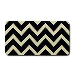 Chevron9 Black Marble & Beige Linen Medium Bar Mats by trendistuff