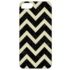 Chevron9 Black Marble & Beige Linen Apple Iphone 5 Classic Hardshell Case by trendistuff