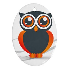 Owl Logo Ornament (oval) by BangZart