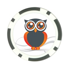 Owl Logo Poker Chip Card Guard (10 Pack) by BangZart