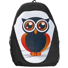 Owl Logo Backpack Bag by BangZart
