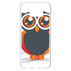 Owl Logo Samsung Galaxy S8 Plus White Seamless Case by BangZart
