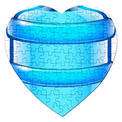 Large Water Bottle Jigsaw Puzzle (heart) by BangZart