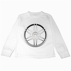 Wheel Skin Cover Kids Long Sleeve T Shirts by BangZart
