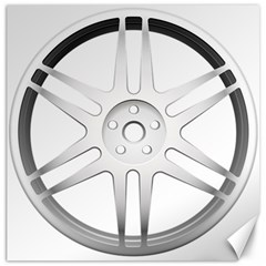 Wheel Skin Cover Canvas 12  X 12   by BangZart