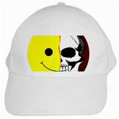 Skull Behind Your Smile White Cap by BangZart