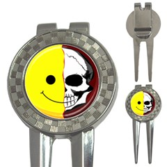 Skull Behind Your Smile 3 In 1 Golf Divots by BangZart