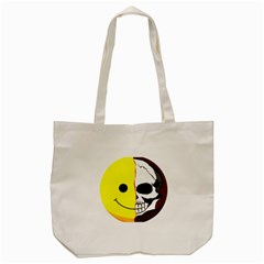 Skull Behind Your Smile Tote Bag (cream)