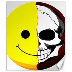 Skull Behind Your Smile Canvas 20  X 24   by BangZart