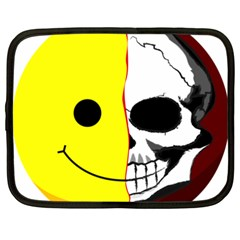 Skull Behind Your Smile Netbook Case (xxl)  by BangZart
